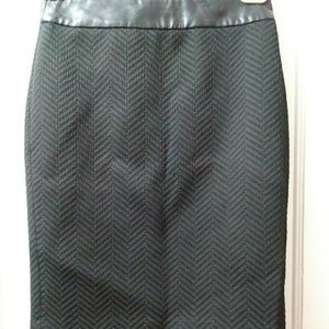 Banana Republic Textured Pattern Pencil Skirt
